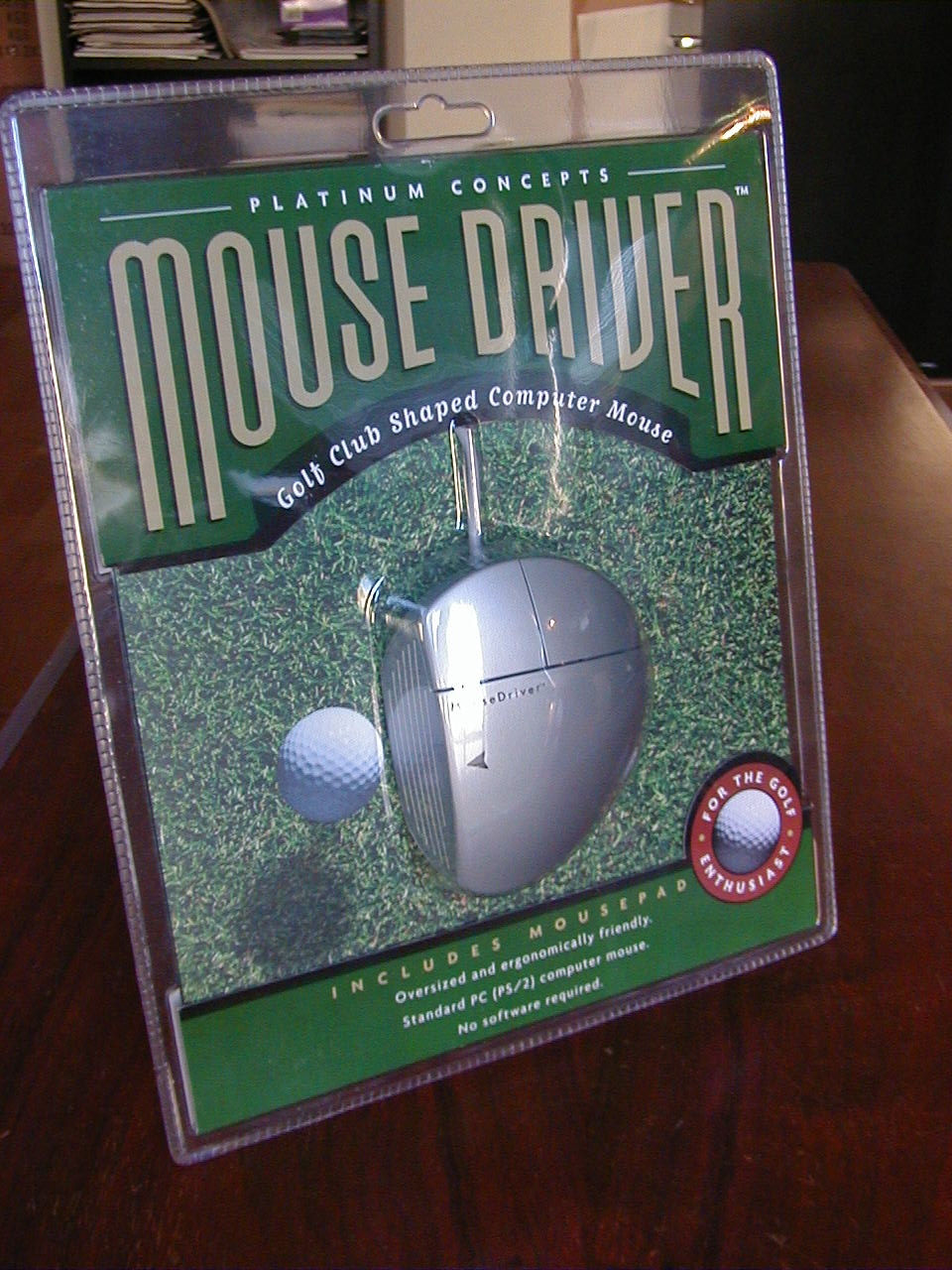 MouseDriver Clamshell Packaging
